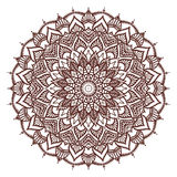 Mandala. Drawing by hand. Doodle.  vector illustration on white background Stock Photo