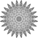 Mandala drawn in the manual vector illustration