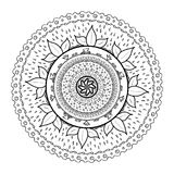 Mandala drawn to be painted. Illustration of Mandala drawn to be painted stock illustration