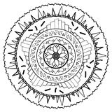Mandala drawn to be painted. Illustration of Mandala drawn to be painted royalty free illustration