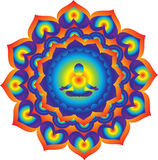 mandala Driva och energi royaltyfri foto