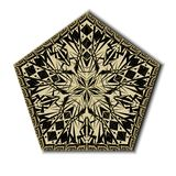 Mandala dunkelbraun auf Wight Lizenzfreie Stockfotos