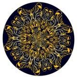Mandala dunkelbraun auf Wight Stockbilder