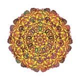 Mandala dunkelbraun auf Wight Stockfotografie