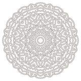 Mandala in dunne zwarte lijnen wordt getrokken die Stock Afbeelding