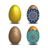 Mandala Easter-eiinzameling Stock Foto