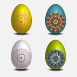 Mandala Easter-eiinzameling Royalty-vrije Stock Foto's