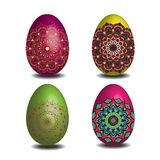 Mandala Easter-eiinzameling Stock Afbeeldingen