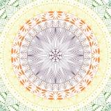 Mandala elegante, modelo redondo del cordón, fondo del círculo con muchos detalles Foto de archivo