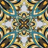 mandala Elementi decorativi dell'annata Reticolo senza giunte illustrazione di stock
