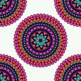 mandala Elementos decorativos étnicos Fundo tirado mão Isla Imagem de Stock