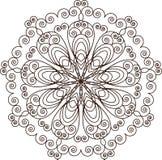mandala Elementos decorativos do vintage ilustração stock