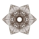 Mandala, elements of the east stock illustration