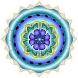 Mandala. Elements forming a round floral mandala stock illustration