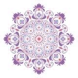 Mandala eller rund blom- modell Fotografering för Bildbyråer