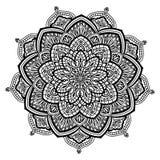 Mandala em preto e branco Imagens de Stock Royalty Free