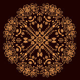 Mandala en colores negros, amarillos Imágenes de archivo libres de regalías