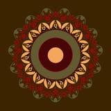 Mandala en colores rojos Imagen de archivo