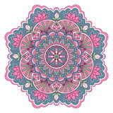 Mandala en colores rosados y azules Imagen de archivo libre de regalías