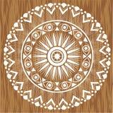 Mandala en el fondo de madera Imagen de archivo libre de regalías