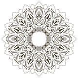 Mandala en fondo aislado Imagenes de archivo