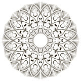 Mandala en fondo aislado Imagen de archivo