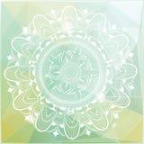 Mandala en fondo del polígono Imagen de archivo