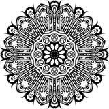 Mandala en líneas negras stock de ilustración