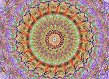Mandala en muchos colores stock de ilustración