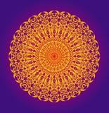 Mandala en openwork oosters patroon Kunstenaarsachtergrond royalty-vrije illustratie