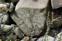 Mandala en pierre bouddhiste Images stock