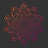 Mandala en plantilla gris de la tarjeta del fondo Imagen de archivo libre de regalías