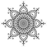 Mandala enchanteur de fleur de fleur illustration libre de droits
