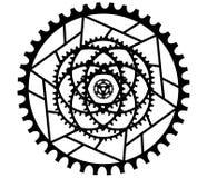 MANDALA-ENTWURF ZWEI lizenzfreie abbildung