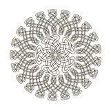Mandala in esoteric style. Set of  rings of celtic braids. Royalty Free Stock Image