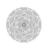 Mandala in esoteric style. Set of  rings of celtic braids. Stock Photo