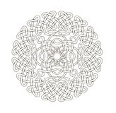 Mandala in esoteric style. Set of  rings of celtic braids. Stock Photography