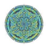 mandala Estampado de plores decorativo oriental azulverde libre illustration