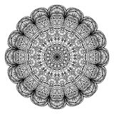 Mandala. Ethnic decorative elements. Hand drawn background. Islam Arabic Indian ottoman motifs royalty free illustration