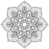 Mandala. Ethnic decorative elements. Hand drawn background. Stock Photo