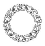 Mandala. Ethnic decorative round element. Hand drawn lacy patterned frame. Royalty Free Stock Photo