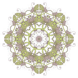Mandala. Ethnic lace round ornamental pattern. Beautiful hand drawn flower. Stock Image
