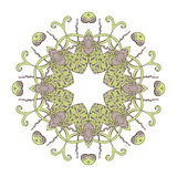 Mandala. Ethnic lace round ornamental pattern. Beautiful hand drawn flower. Royalty Free Stock Images