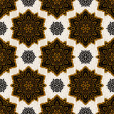 Mandala. Ethnic motifs vector seamless pattern. Vector seamless pattern background on the basis of a mandala design. Elegant luxury texture for wallpapers Stock Images