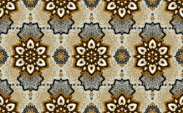 Mandala. Ethnic motifs vector seamless pattern. Vector seamless pattern background on the basis of a mandala design. Elegant luxury texture for wallpapers Royalty Free Stock Photos