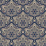 Mandala. Ethnic motifs vector seamless pattern. Vector seamless pattern background on the basis of a mandala design. Elegant luxury texture for wallpapers Stock Photography