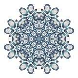 Mandala. Ethnicity round ornament. Ethnic style. Elements for invitation card. Oriental circular pattern, lace background. Cards,brochures,covers Stock Photography