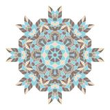 Mandala. Ethnicity round ornament. Ethnic style. Elements for invitation cards, brochures, covers. Oriental circular pattern Stock Images