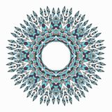 Mandala. Ethnicity round ornament. Ethnic style. Elements for invitation cards, brochures, covers. Oriental circular pattern stock illustration