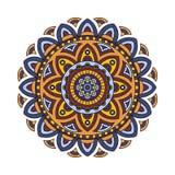 Mandala ethnique décoratif Le contour isole l'ornement Dirigez la conception avec l'Islam, Indien, motifs arabes illustration stock